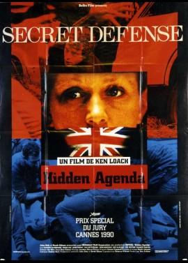 HIDDEN AGENDA movie poster