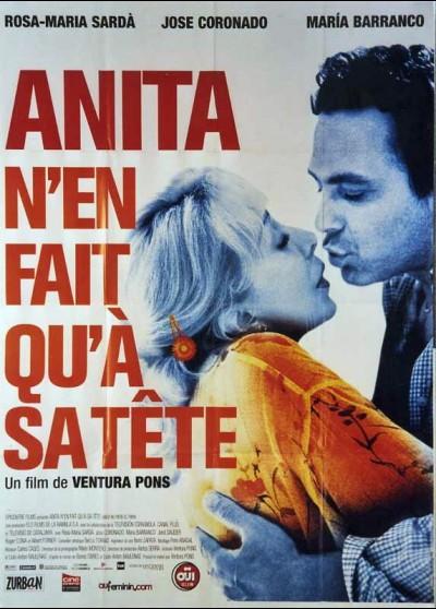 affiche du film ANITA N'EN FAIT QU'A SA TETE