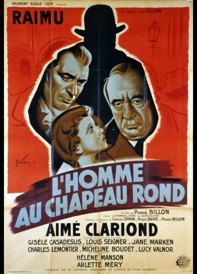 affiche du film HOMME AU CHAPEAU ROND (L')