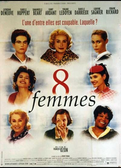 affiche du film HUIT FEMMES
