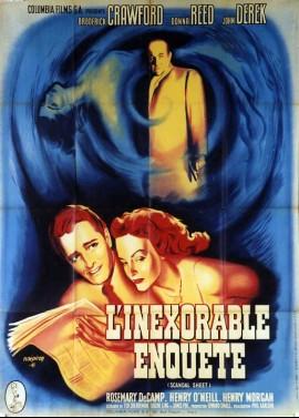 affiche du film INEXORABLE ENQUETE (L')