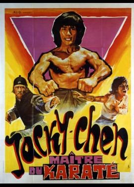 affiche du film JACKY CHEN MAITRE DU KARATE
