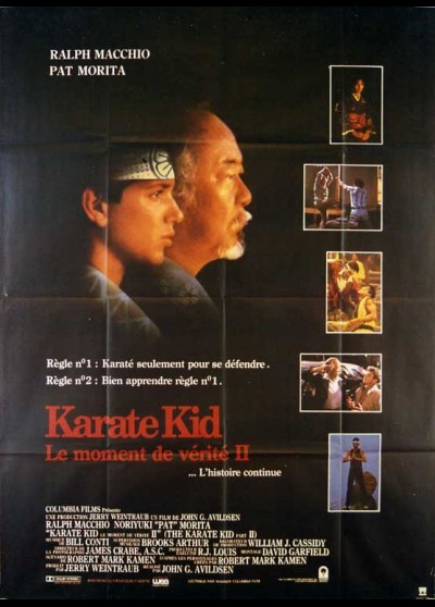 affiche du film KARATE KID LE MOMENT DE VERITE 2