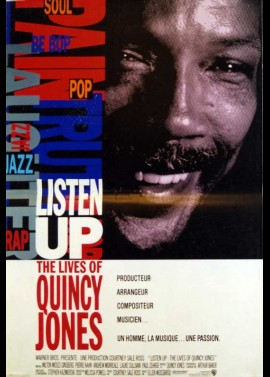 affiche du film LISTEN UP THE LIVES OF QUINCY JONES