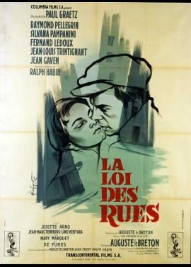 affiche du film LOI DES RUES (LA)