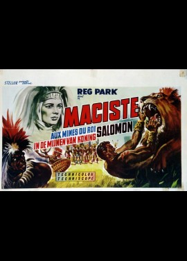 MACISTE NELLA MINIERE DI RE SALOMONE / MACISTE IN KING SOLOMON'S MINES movie poster