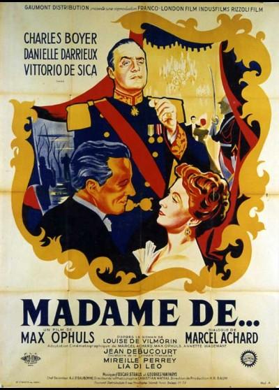 MADAME DE movie poster