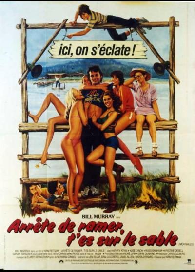 affiche du film ARRETE DE RAMER T'ES SUR LE SABLE