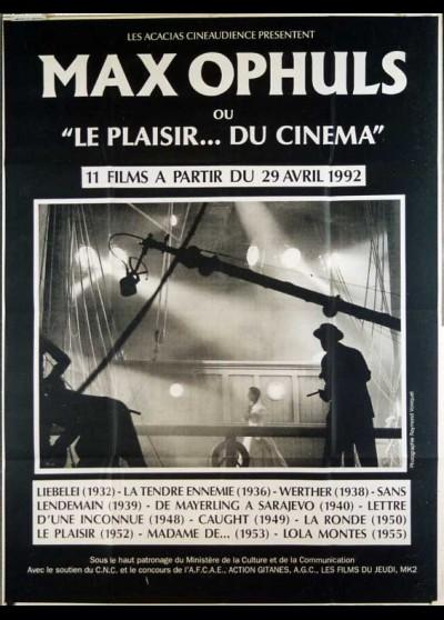 MAX OPHULS OU LE PLAISIR DU CINEMA movie poster