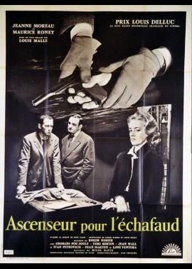 affiche du film ASCENSEUR POUR L'ECHAFAUD