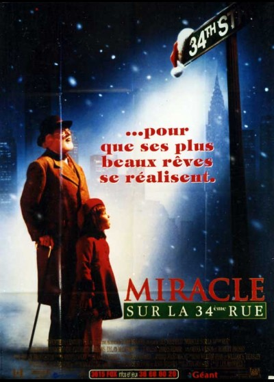 MIRACLE ON 34 TH STREET movie poster