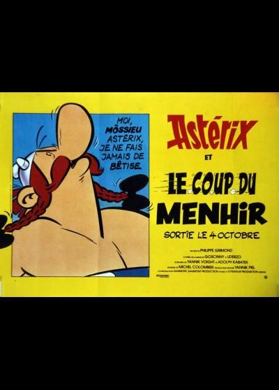 affiche du film ASTERIX ET LE COUP DU MENHIR