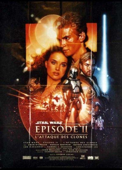 ATTACK OF THE CLONES. STAR WARS EPISODE 2 movie poster