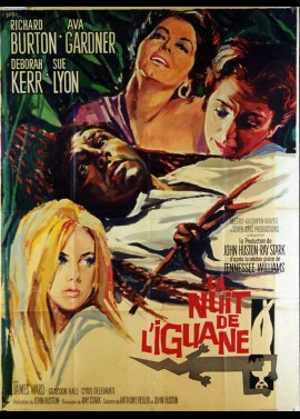 affiche du film NUIT DE L'IGUANE (LA)