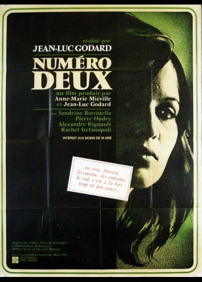 NUMERO DEUX movie poster