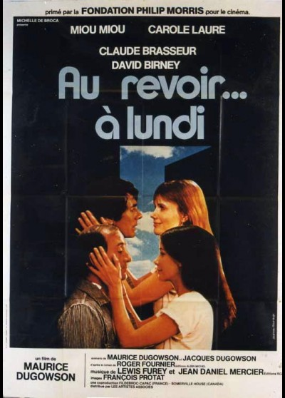 AU REVOIR A LUNDI movie poster
