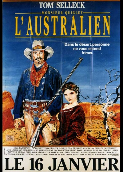 QUIGLEY DOWN UNDER movie poster