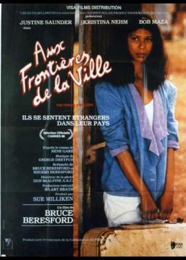 affiche du film AUX FRONTIERES DE LA VILLE