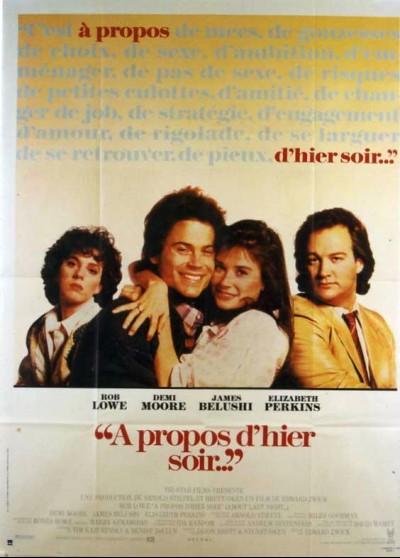 affiche du film A PROPOS D'HIER SOIR