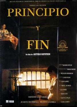 PRINCIPIO Y FIN movie poster