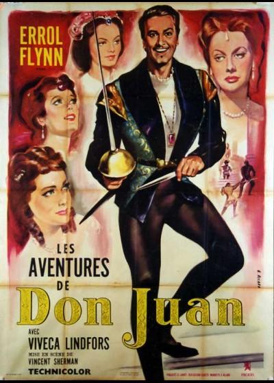 affiche du film AVENTURES DE DON JUAN (LES)