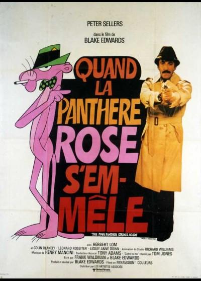 affiche du film QUAND LA PANTHERE ROSE S'EMMELE