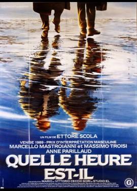 affiche du film QUELLE HEURE EST T'IL