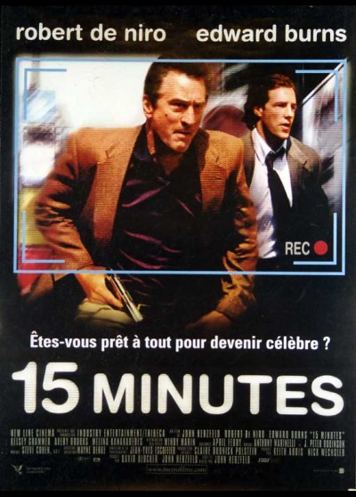 15 MINUTES / FIFTEEN MINUTES movie poster