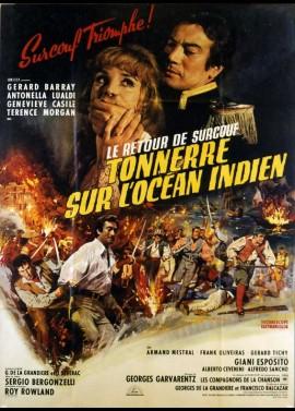 affiche du film RETOUR DE SURCOUF (LE) TONNERRE SUR L'OCEAN INDIEN