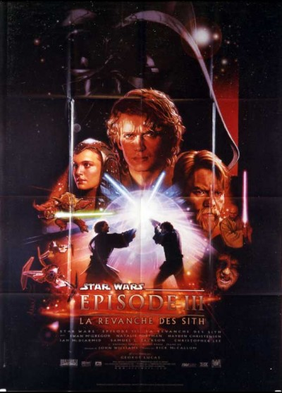 REVENGE OF THE SITH . STAR WARS EPISODE 3 movie poster