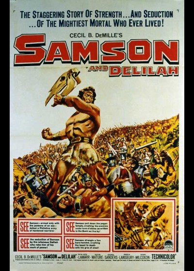 SAMSON AND DELILAH movie poster