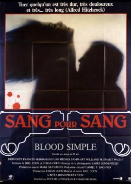 affiche du film SANG POUR SANG