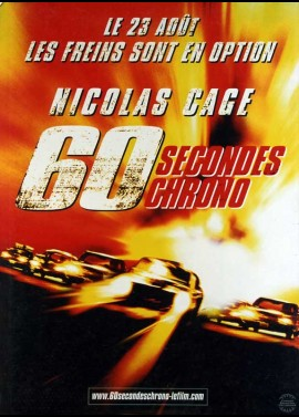GONE IN SIXTY SECONDS / GONE IN 60 SECONDS movie poster