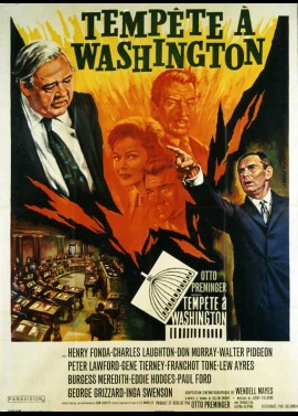 affiche du film TEMPETE A WASHINGTON